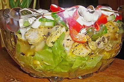 Eisberg Schichtsalat mit Putenbrust 4
