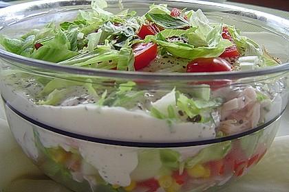 Eisberg Schichtsalat mit Putenbrust 1