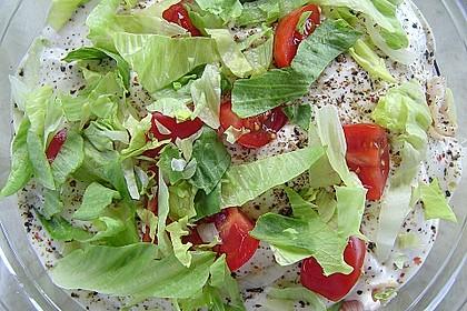 Eisberg Schichtsalat mit Putenbrust 2