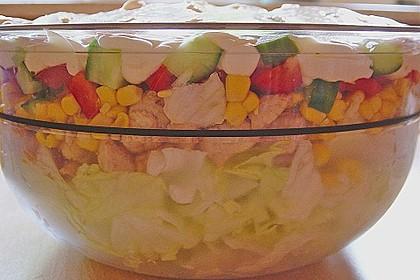Eisberg Schichtsalat mit Putenbrust 5