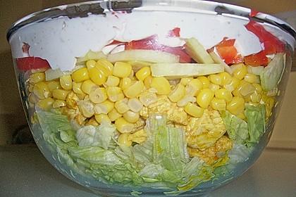 Eisberg Schichtsalat mit Putenbrust