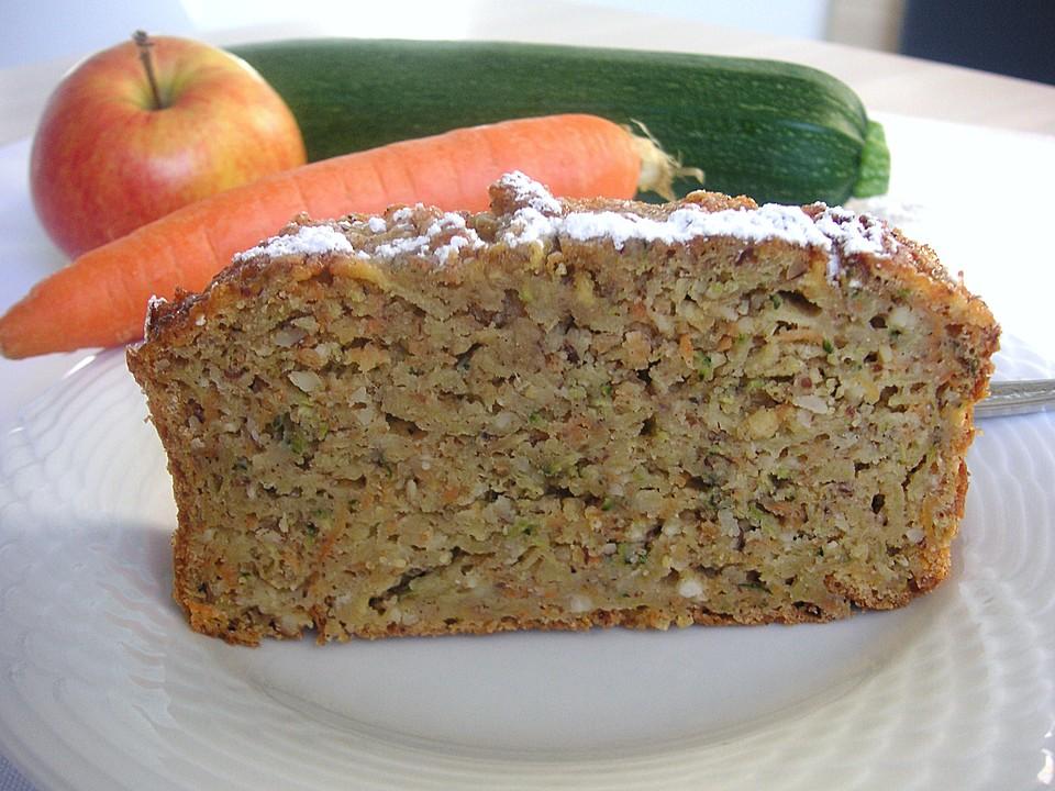 Mohren Zucchini Apfel Kuchen