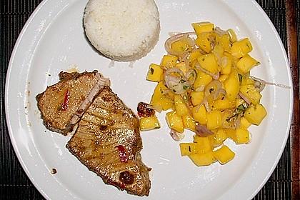 Koriander - Thunfischsteak mit Mango Salsa 14