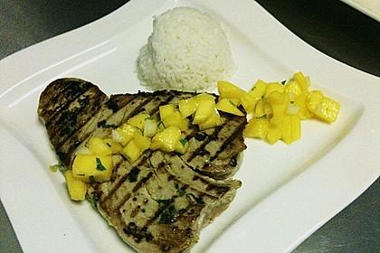 Koriander - Thunfischsteak mit Mango Salsa 20