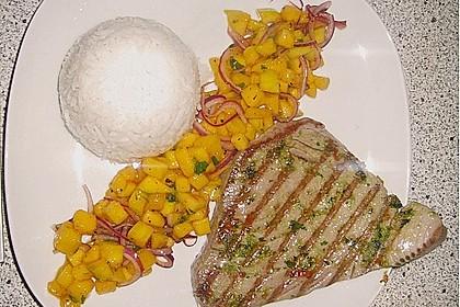 Koriander - Thunfischsteak mit Mango Salsa 10