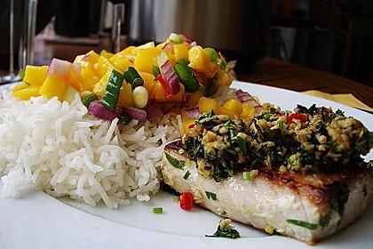 Koriander - Thunfischsteak mit Mango Salsa