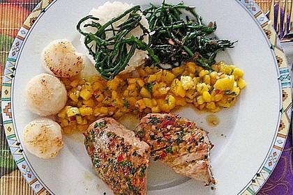 Koriander - Thunfischsteak mit Mango Salsa 6