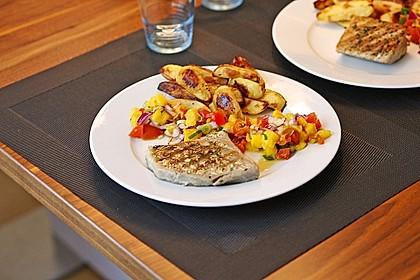 Koriander - Thunfischsteak mit Mango Salsa 3