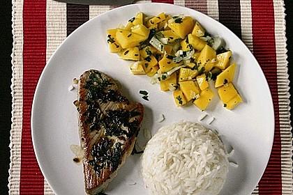 Koriander - Thunfischsteak mit Mango Salsa 13