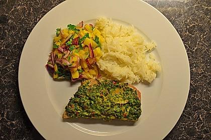Koriander - Thunfischsteak mit Mango Salsa 8