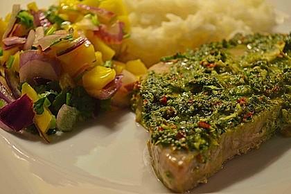 Koriander - Thunfischsteak mit Mango Salsa 2