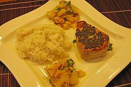 Koriander - Thunfischsteak mit Mango Salsa 19