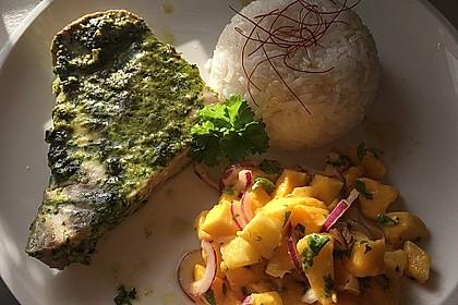 Koriander - Thunfischsteak mit Mango Salsa 15