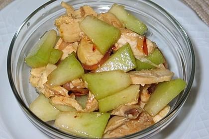 Melonensalat mit Huhn
