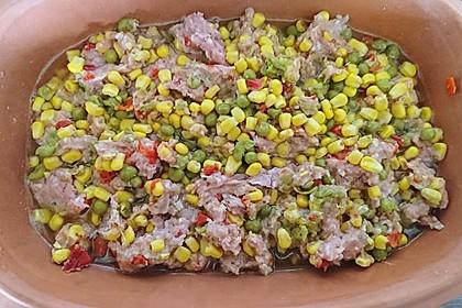 Curiosias Hackfleisch - Paprika - Reisauflauf aus dem Römertopf 9