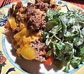 Curiosias Hackfleisch - Paprika - Reisauflauf aus dem Römertopf (Bild)