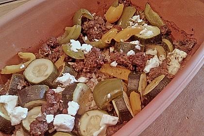 Curiosias Hackfleisch - Paprika - Reisauflauf aus dem Römertopf 10