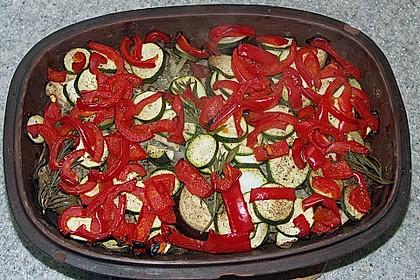 Curiosias Hackfleisch - Paprika - Reisauflauf aus dem Römertopf 6