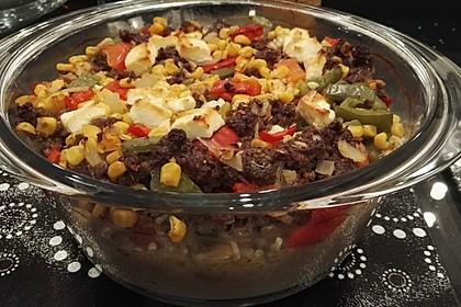 Curiosias Hackfleisch - Paprika - Reisauflauf aus dem Römertopf 7