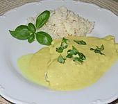 Gebratenes Fischfilet mit Kokos & Basilikum (Bild)