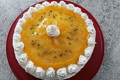Philadelphia Pfirsich Torte (Bild)