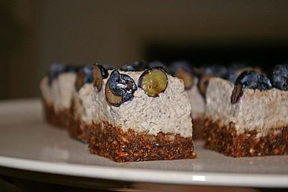 Roher Kokos-Heidelbeer-Kuchen 1