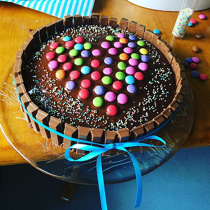 Candy Cake Ein Amerikanischer Kuchen Mit Sussigkeiten Von