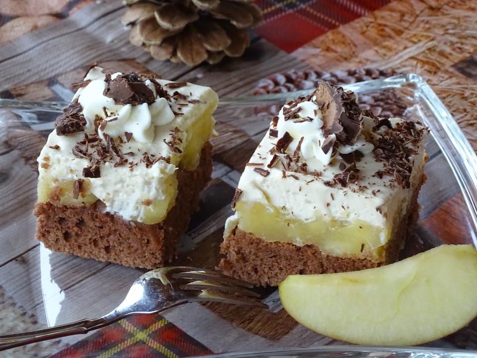 Schoko Apfelkuchen Mit Likorsahne Von Holunderbluete67 Chefkoch De