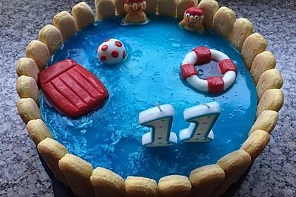 Swimmingpool Torte 5