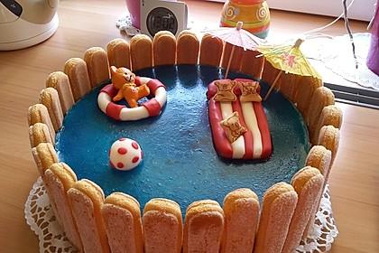 Swimmingpool Torte 1