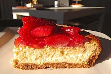 American Strawberry Cheesecake mit Erdbeertopping 1