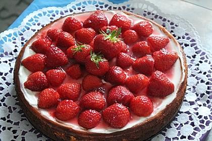 American Strawberry Cheesecake mit Erdbeertopping
