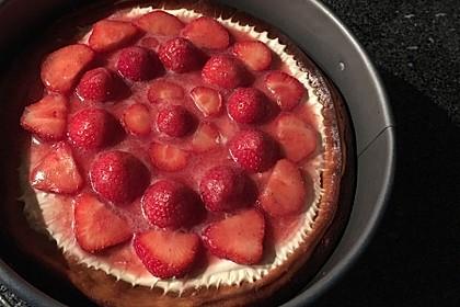American Strawberry Cheesecake mit Erdbeertopping 2