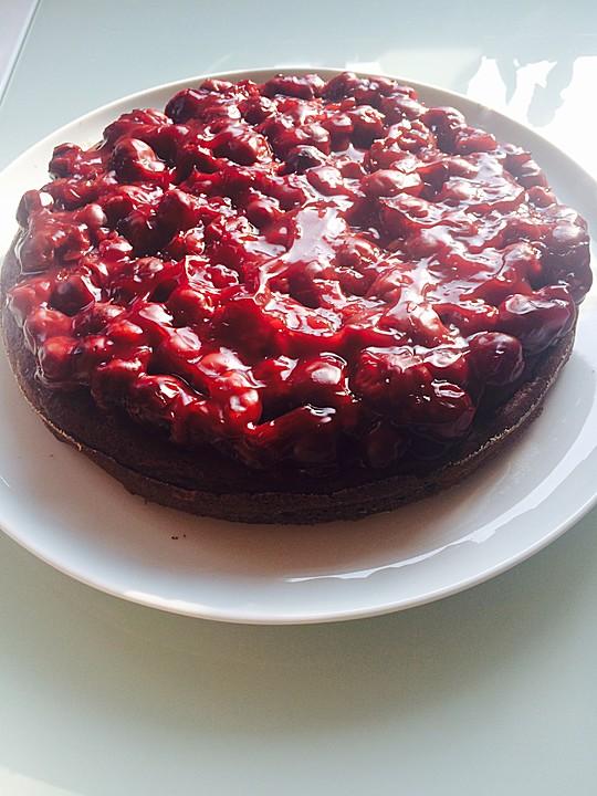 Schoko Kirsch Kuchen Ohne Mehl Und Zucker Von Uliack Chefkoch De