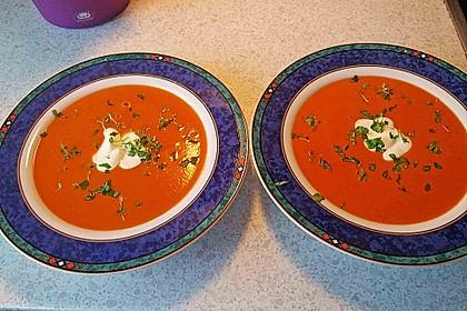 Tomatencremesuppe aus Datteltomaten 1