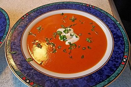 Tomatencremesuppe aus Datteltomaten