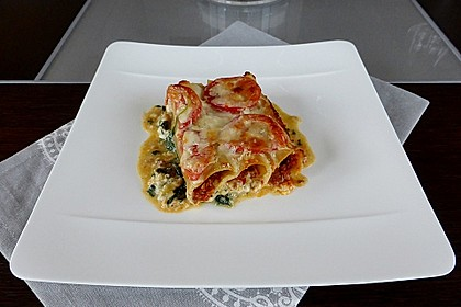 Cannelloni Bolognese auf Spinat 2