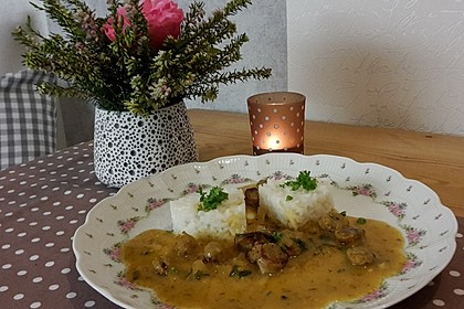 Nürnberger Curry-Kokos-Soße mit Basmatireis