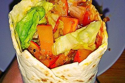 Vegetarische Kürbis-Wraps mit Fetakäse