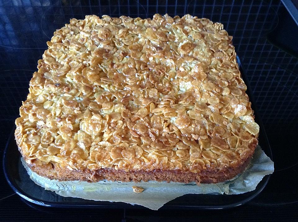 Kirsch Cornflakes Kuchen Ein Sehr Leckeres Rezept Chefkoch De