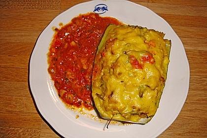 Gefüllte Zucchini mit Hefeschmelz überbacken 1