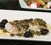 Ofenfisch mit Basilikumbutter (Bild)
