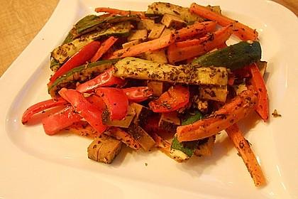 Mediterranes Gemüse mit Tofu 1