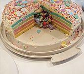 Regenbogenkuchen (Bild)