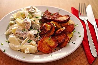 Matjesfilets mit Bratkartoffeln