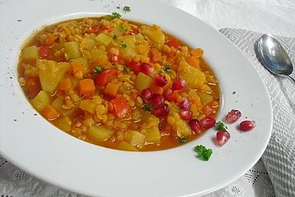 Linsen-Kartoffel-Eintopf mit Garam Masala