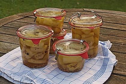 Anjas Senfgurken mit weißem Balsamico, eingekocht (Bild)