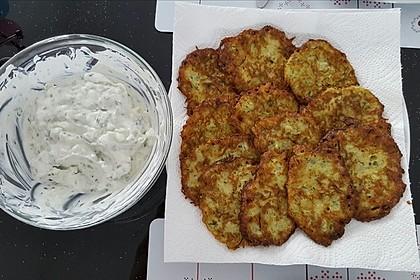 Zucchini-Kartoffelpuffer (Reibekuchen)