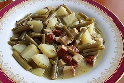 Omas Bohnen-Kartoffeleintopf mit Räuchertofu 1