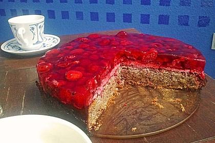 Himbeer-Nuss-Kuchen
